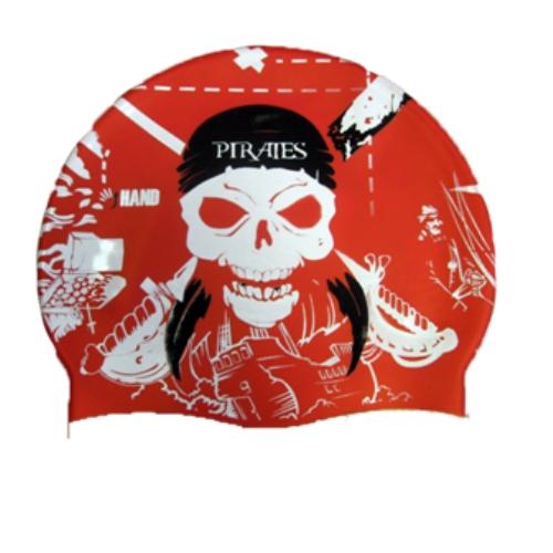 Hand cuffia pirata rosso