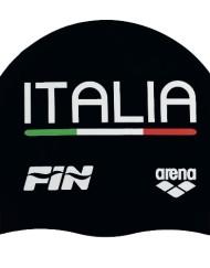 Cuffia Silicone Arena Team ITALIA NERA
